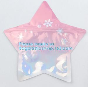 Quality Irregular Packing Eco-Friendly Food Grade Aluminum Foil PE Material Juicy Bag Custom Shape Zipper Pouch wholesale