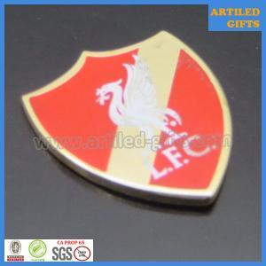 Quality United Kingdom LFC Liverpool Football club gold enamel metal tag wholesale