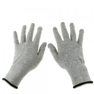 Quality Grey Carbon Fibre 40D Silver Conductive  Gloves wholesale