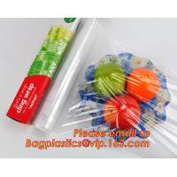 Quality Waterproof transparent pe pvc 12mic 30cm customized food wrap,China stretch cling wrap manufacturer pe food wrap with wholesale