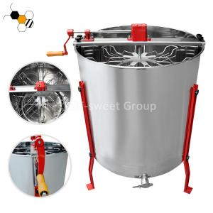 Quality Stainless Steel 8 Frames Centrifuge Honey Manual Honey Extractor wholesale