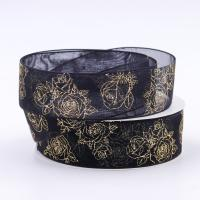 Quality Double Face Metallic Glitter Ribbon Multi Color Hot Stamping Printing wholesale