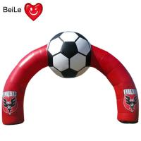 Quality Red Inflatable Football Entrance Arch for special time advertising wholesale