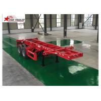 Leaf Spring Type 40 Ft Low Bed Trailer , 40 Foot Triple Axle Trailer For Truck