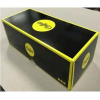 Quality Lid And Base Cardboard Shoe Boxes Black Yellow Easy To Disassemble Customized wholesale
