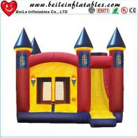Quality High quality gaint PVC Inflatable bouncer castle toys with slide wholesale