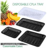 Quality PLA plate best selling prodcts, biodegradable PLA dinner plate for restaurant use, pla food box for meat wholesale