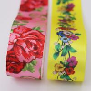 Quality custom ink printing ribbon logo print satin sash ribbon wholesale