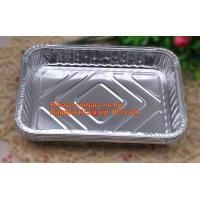 Quality extra-large disposable rectangle aluminium foil deli tray food foil container for takeaway food foil containers with lid wholesale