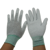 Quality Grey 13G 280D Nylon PU Coated Palm Fit ESD Gloves wholesale