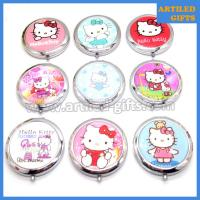 Hello Kitty stainless steel foldable makeup mirror 1