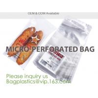 Quality Microperforation blocked bags,microperforated bag for fruit and vegetable,Microperforation triangle bopp sandwich packag wholesale