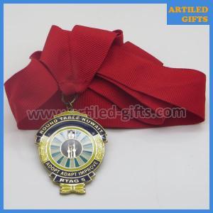 Quality Epoxy enamel filled gold base RTAG5 Adopt Adapt Improve Round Table Kuwait medal wholesale