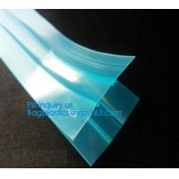 Quality plastic flange zipper without teeth, PP/PE/PVC/EVA Plastic Flange Zipper For Pouch, PP/PE/PVC/EVA Plastic Flange Zipper wholesale