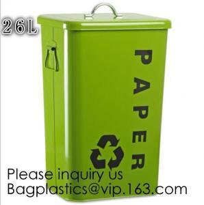 Quality Household Metal Tin Garbage /Dust Bin,Metal Dog Pet Food Storage Bin Tin/Galvanized Trash Can/Garbage Bin,Store Supplies wholesale