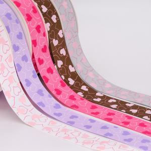 Quality Fancy 1 Inch Grosgrain Ribbon , Smooth Touch Feeling Custom Logo Ribbon wholesale