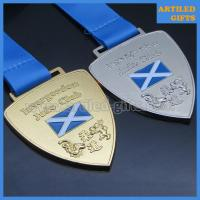 Quality Custom design die casting gold silver finish enamel logo Judo sports medal with lanyard wholesale