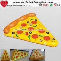 Quality 2016 Stock Giant PVC air bed inflatable pizza float wholesale