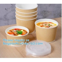 Quality Salad Cup, Soup Cup, Salad Bowl, Soup Bowl, Large Capacity Disposable Kraft Paper Bowl With Paper Lid Eco Takeaway Food wholesale