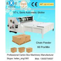 Quality 3KW Joggling Emergent Stop Surface Grinding XT-L Chain-Feeding Slotting Carton Machine wholesale