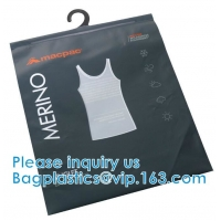 Quality Shirt Packaging Bags, Hanger Frosted Bags, Packaging Bag Hook Hanger Bag Underwear Shirt Bag wholesale