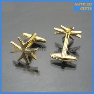 Quality Mens gold cufflinks novel Star shape metallic cufflinks as wedding gifts wholesale