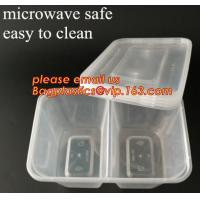 Quality Disposable Plastic 4 Compartment Food Thermal Lunch Container Box,Plastic Takeaway Food Box with conjoined cover bagease wholesale