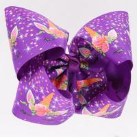 Quality Purple Glitter Large Hair Bows , Eco Friendly Personalized Hair Bows wholesale