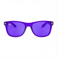 Buy cheap Against UVA UVB PC Frame Purple Color Therapy Eyewear For Relax from wholesalers