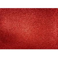 Quality Magenta Red Glitter Fabric For Dresses , Cold Resistance Shiny Glitter Fabric wholesale