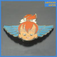 Quality Smile angle with wing belt buckle as ladies decorational ornaments wholesale