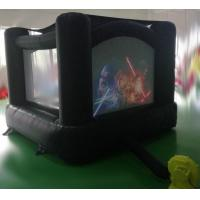 Quality Customized cartoon printed inflatable black castle bouncer and black color inflatable jumping bouncy wholesale