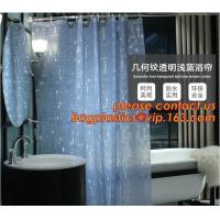 Quality Mould Proof Waterproof white and black trellis design pvc custom bath curtain printed shower curtain, High quality Polye wholesale
