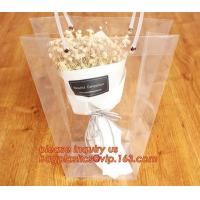 Quality PP plastic flower carry bags with hanging for potted plant bags,quality assurance great quality pp flower bag bagease pa wholesale