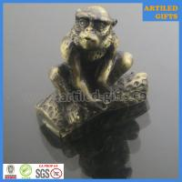 Quality 3D Antique gold immitation metal animal crafts of Monkey wholesale