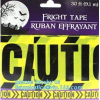 Quality Halloween Birthday Party theme warning caution PE tapes for event decoration,Halloween Caution Tapes,Halloween Warning T wholesale