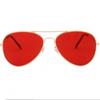 Quality Hony Metal Frame Red Green Glasses Vision Therapy CE Rosh EN71 wholesale