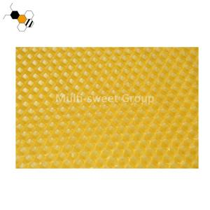 Quality Yellow Color OEM Beeswax Foundation Sheets With Hexagonal Cells wholesale