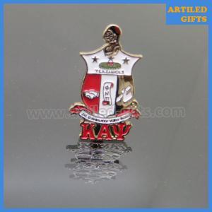 Quality Hot selling Gold plating with soft enamel logo KAΨ masonic cufflinks wholesale