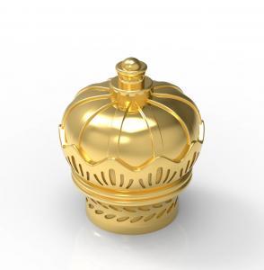 Quality Wholesale Factory New Design Gold Color Crown Shape Zamak Material Caps wholesale