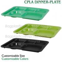 Quality 5 Compartment Lunch Box Disposable Plastic Food Container, biodegradable Fast Food Tray, disposable safety meat tray wholesale
