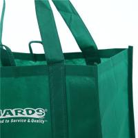 Quality Simple Green Folded Non Woven Carry Bags Custom Logo Advertising Packaging wholesale
