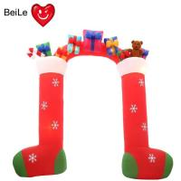 Quality Factory price 0.5mm Nylon Oxford red color inflatable santa arch wholesale