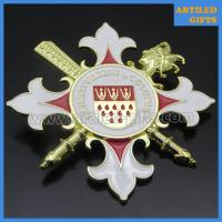 Buy cheap Heimatverein Colonia 3D gold metal pin badge with safety brooch from wholesalers