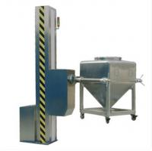 Quality Single column lifting hopper mixer blender pharmaceutical machine wholesale