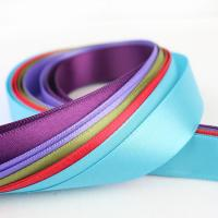 Quality Smooth Double Faced Satin Ribbon , Eco Friendly Silver Satin Ribbon wholesale