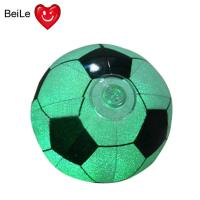 Quality Promotion 18 inches PVC inflatable glow football with 0.22mm PVC(EN71) material wholesale