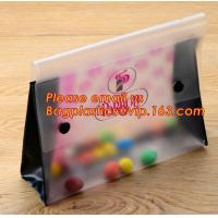 Quality Office school filing supplies A4 plastic portable document file bag /envelope pocket file folder with button wholesale