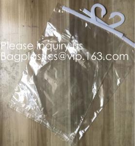 Quality Custom Logo Printing EVA Garment Underwear Clothes Packaging Transparent Button Pvc Soft Plastic Hanger Hook Bag, BAGEAS wholesale