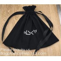 Quality 100% Cotton Canvas Favor Bag Pouch with Drawstring,Cotton Breathable Dust-Proof Drawstring Storage Pouch Multi-Functiona wholesale
